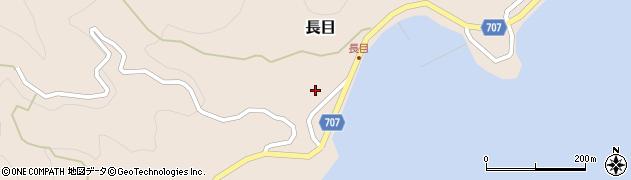 大分県津久見市長目1564周辺の地図