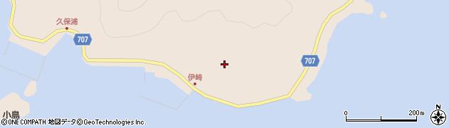 大分県津久見市長目伊崎周辺の地図