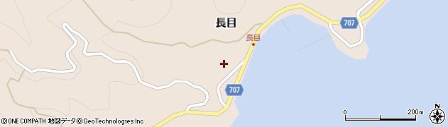 大分県津久見市長目1562周辺の地図