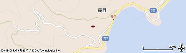 大分県津久見市長目1574周辺の地図