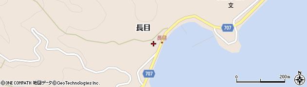 大分県津久見市長目1407周辺の地図