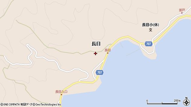 大分県津久見市長目1395周辺の地図
