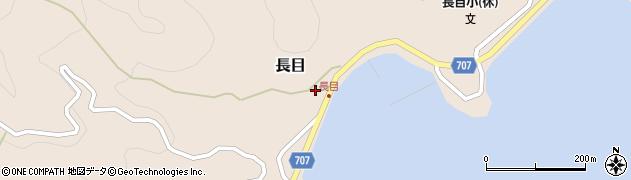 大分県津久見市長目1404周辺の地図