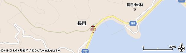 大分県津久見市長目1415周辺の地図
