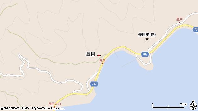 大分県津久見市長目1506周辺の地図