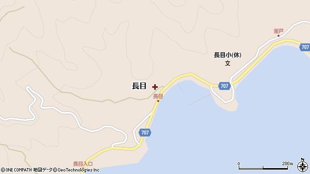 大分県津久見市長目1505周辺の地図