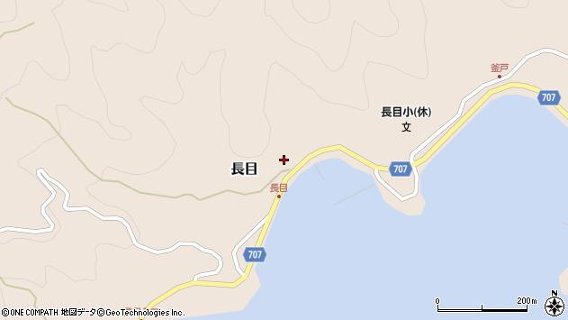 大分県津久見市長目1501周辺の地図