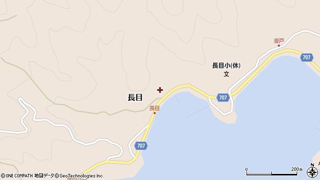大分県津久見市長目1500周辺の地図