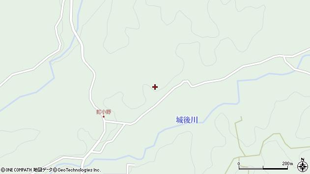 大分県竹田市直入町大字上田北5780周辺の地図