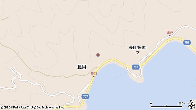大分県津久見市長目1479周辺の地図