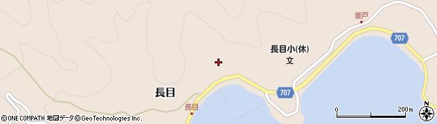 大分県津久見市長目1456周辺の地図