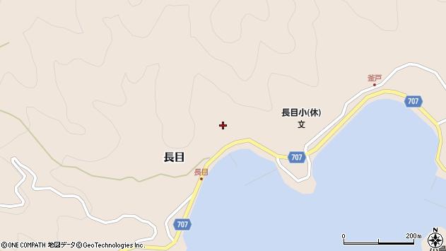 大分県津久見市長目1491周辺の地図