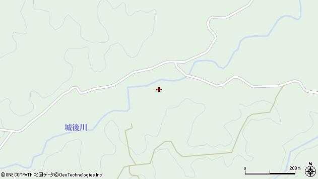大分県竹田市直入町大字上田北城後周辺の地図