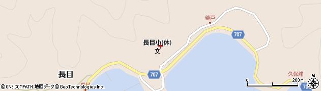 大分県津久見市長目1698周辺の地図