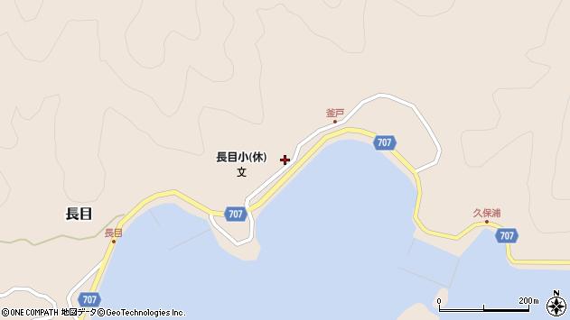 大分県津久見市長目1719周辺の地図