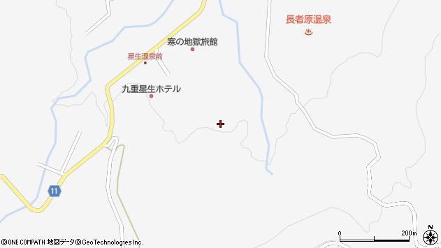 大分県玖珠郡九重町田野星生周辺の地図