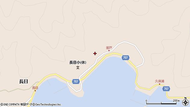 大分県津久見市長目1744周辺の地図