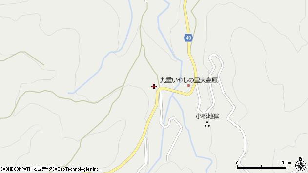 大分県玖珠郡九重町湯坪580周辺の地図