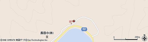 大分県津久見市長目1846周辺の地図