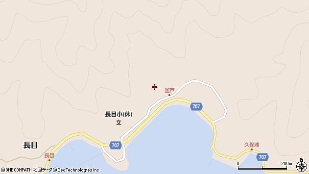 大分県津久見市長目1739周辺の地図