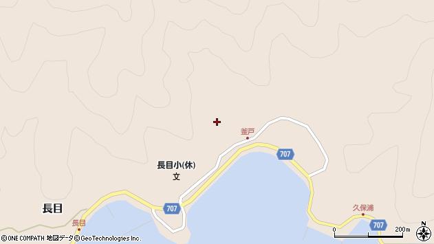 大分県津久見市長目1754周辺の地図