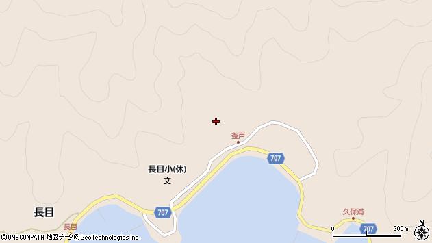 大分県津久見市長目1735周辺の地図