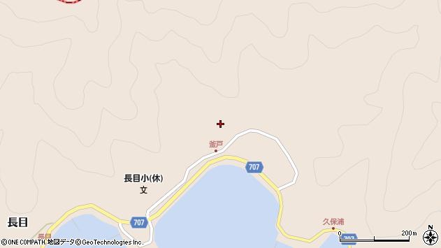 大分県津久見市長目1863周辺の地図