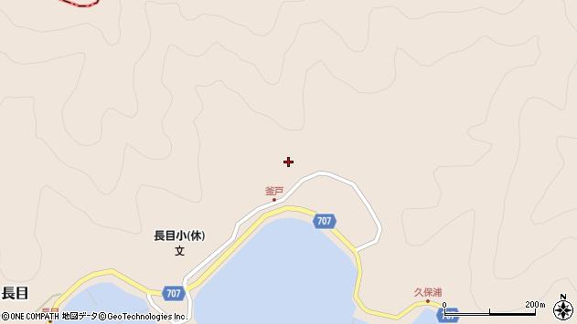 大分県津久見市長目1860周辺の地図