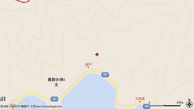 大分県津久見市長目1858周辺の地図