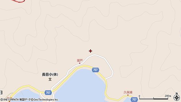 大分県津久見市長目1856周辺の地図