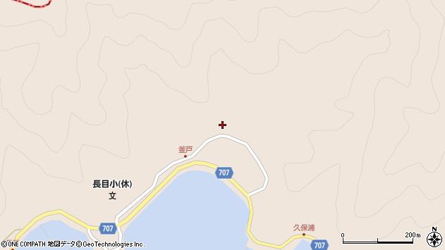 大分県津久見市長目1883周辺の地図