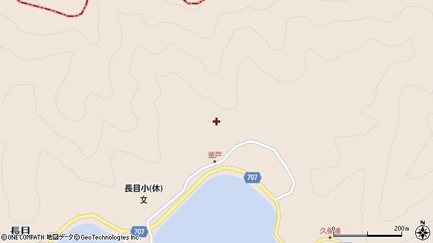大分県津久見市長目釜戸周辺の地図