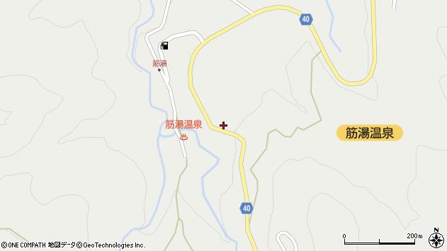 大分県玖珠郡九重町湯坪684周辺の地図