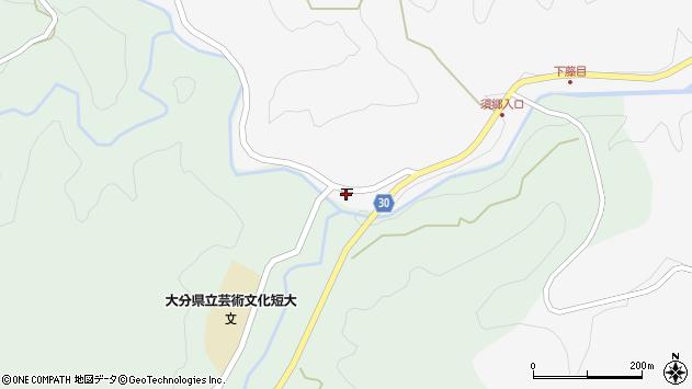 大分県竹田市直入町大字下田北3496周辺の地図
