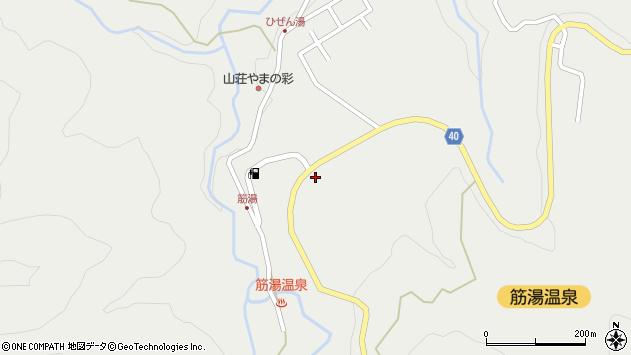 大分県玖珠郡九重町湯坪734周辺の地図