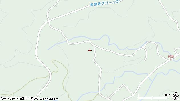 大分県竹田市直入町大字上田北4842周辺の地図