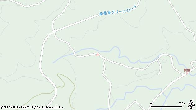 大分県竹田市直入町大字上田北4835周辺の地図