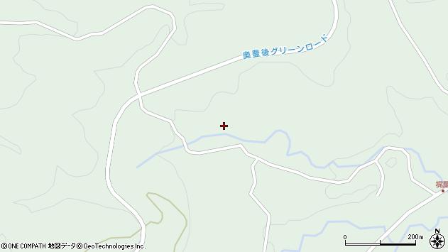 大分県竹田市直入町大字上田北水口周辺の地図
