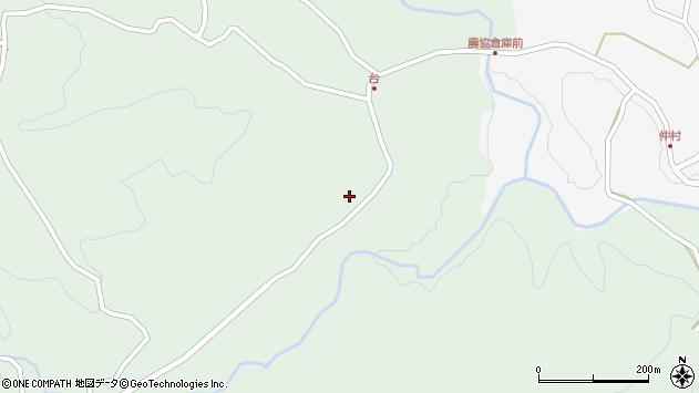 大分県竹田市直入町大字上田北4250周辺の地図