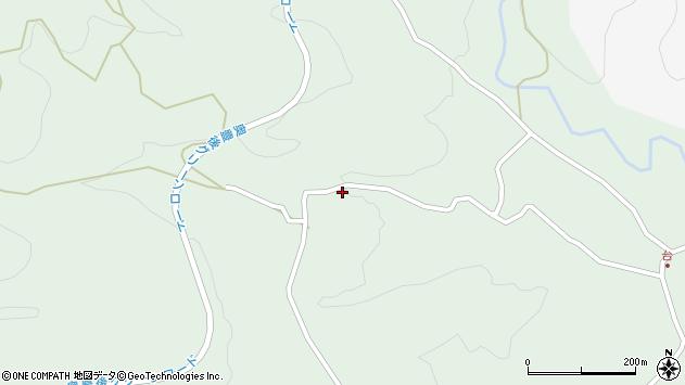 大分県竹田市直入町大字上田北5555周辺の地図