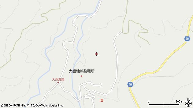 大分県玖珠郡九重町湯坪大岳周辺の地図
