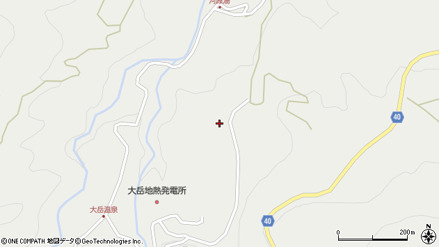 大分県玖珠郡九重町湯坪490周辺の地図
