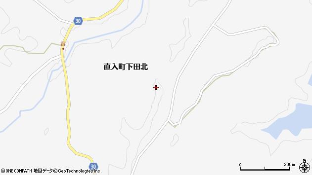 大分県竹田市直入町大字下田北塩手周辺の地図