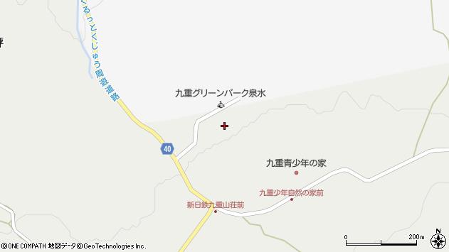 大分県玖珠郡九重町田野204周辺の地図