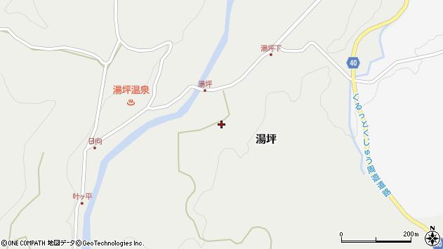 大分県玖珠郡九重町湯坪217周辺の地図