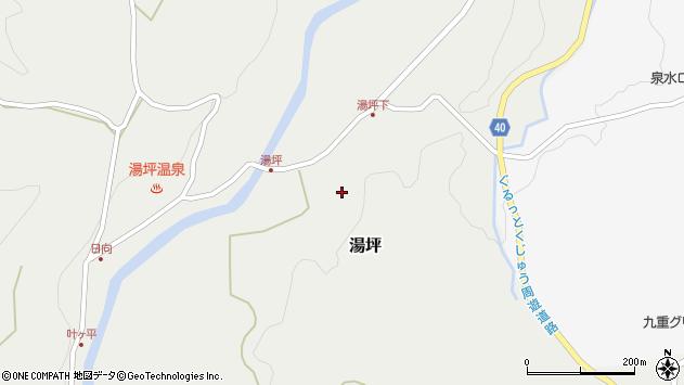 大分県玖珠郡九重町湯坪228周辺の地図