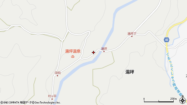 大分県玖珠郡九重町湯坪1052周辺の地図