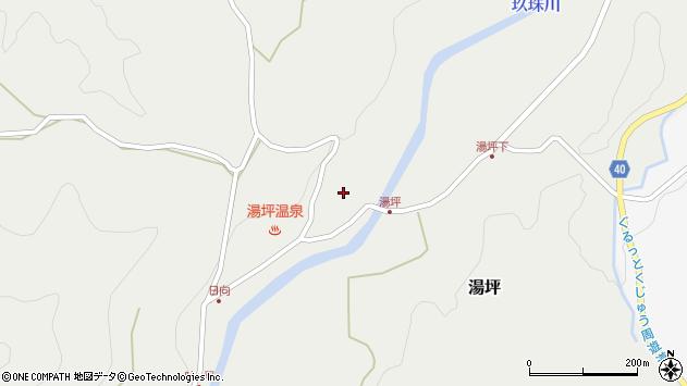 大分県玖珠郡九重町湯坪1053周辺の地図