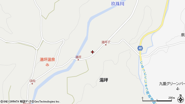 大分県玖珠郡九重町湯坪265周辺の地図