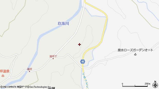 大分県玖珠郡九重町湯坪37周辺の地図